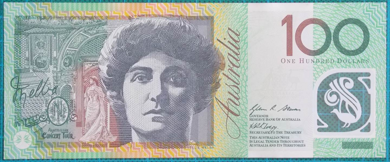 2008 Australia One Hundred Dollars Banknote DG08