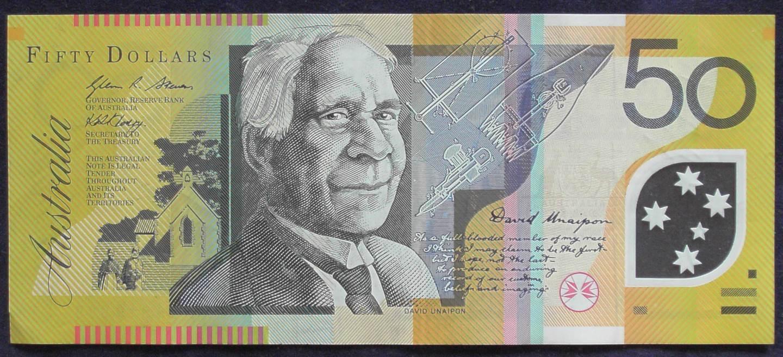 2008 Australia Fifty Dollars - AL 08 - Semi Solid