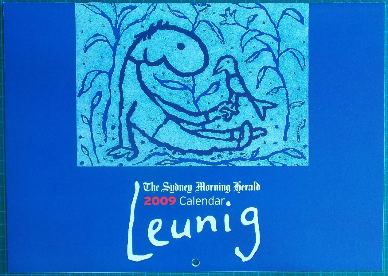 2009 Michael Leunig Sydney Morning Herald Calendar New