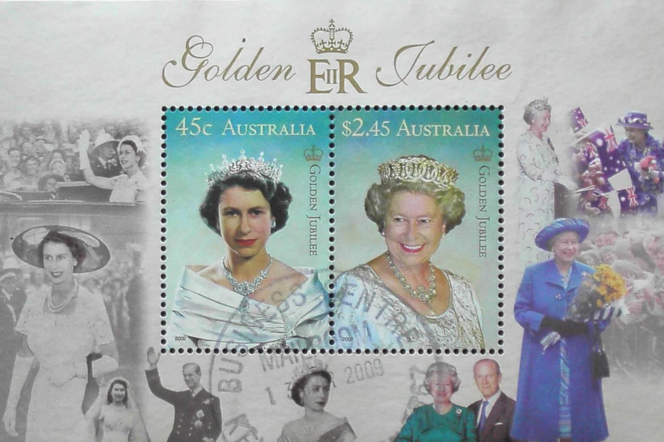 2009 Australia Post Mini Sheet - QEII Golden Jubilee - Postmarked