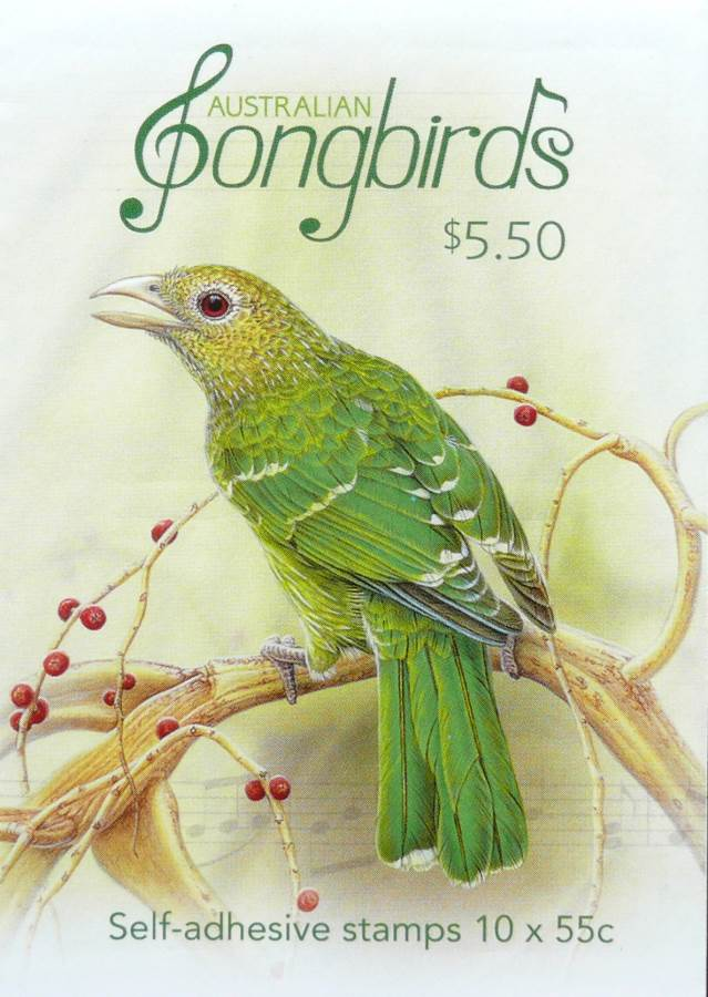 2009 Australia Post Songbirds Booklet 10 Stamps