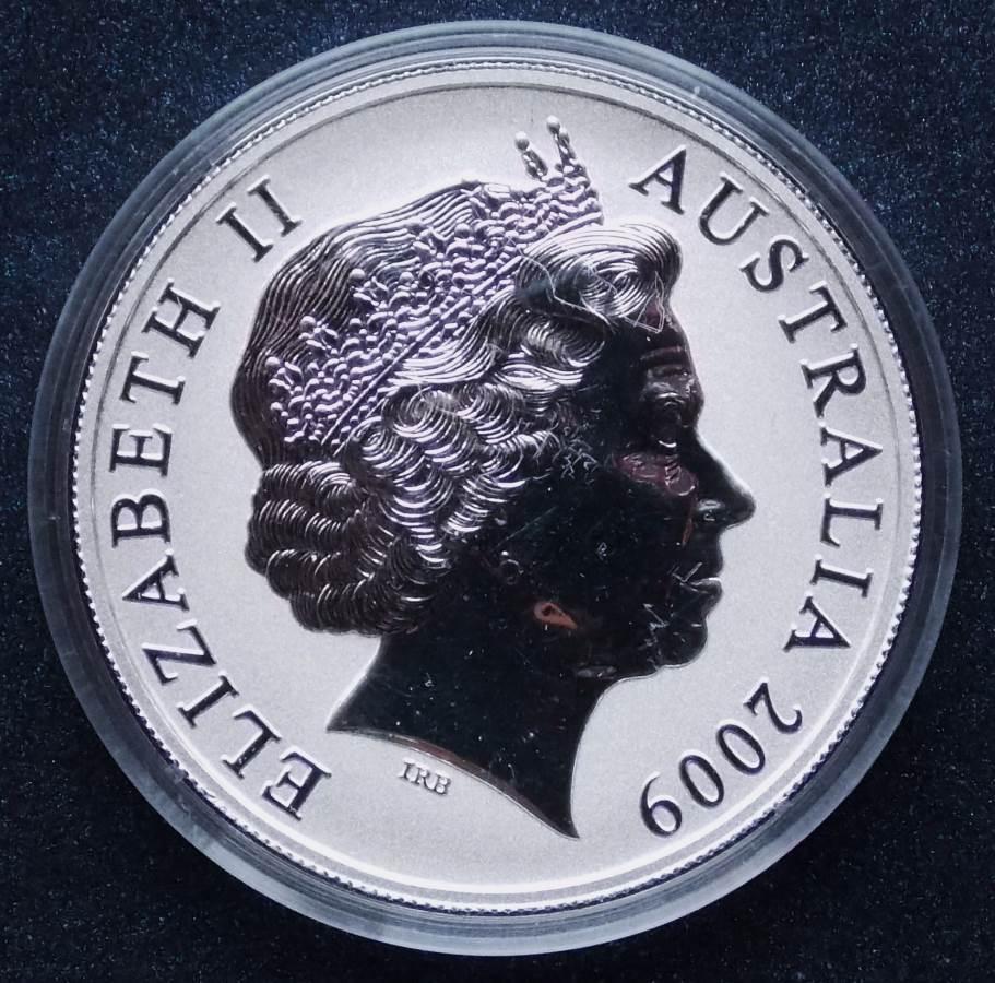 2009 Kangaroo One Dollar - Ken Done - Gold Plated