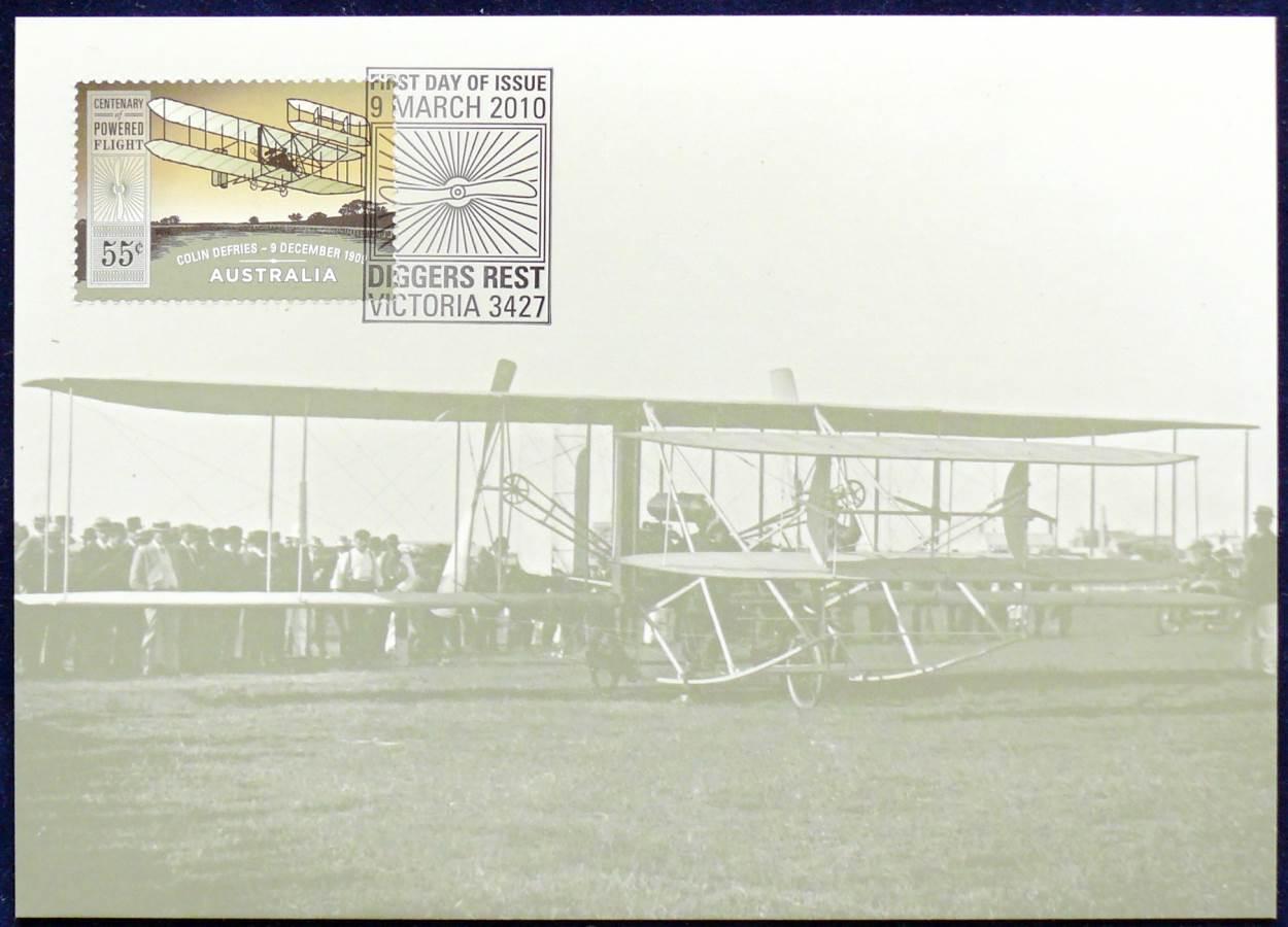 2010 Australia - Centenary Of Powered Flight - Colin Defries