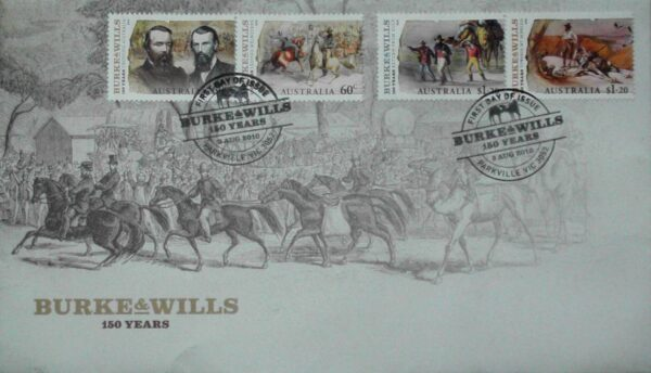 2010 Australia Post FDC -150th Anniv. of Burke and Wills