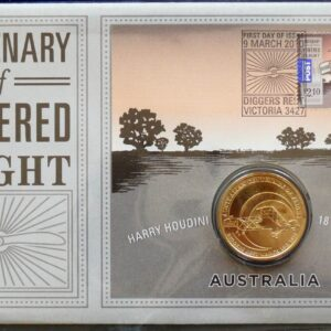 2010 Australia Powered Flight Coin and Stamp Folder