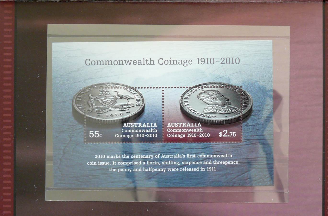 2010 Australia Stamp Pack - Commonwealth Coinage