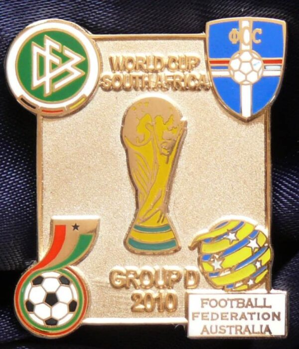 2010 FIFA World Cup - Group D - Gold Coloured Metal Pin