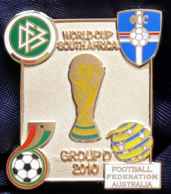 2010 FIFA World Cup - Group D - Silver Coloured Metal Pin