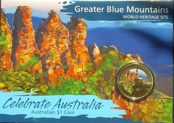 2010 One Dollar Coin - Greater Blue Mountains  - UNC