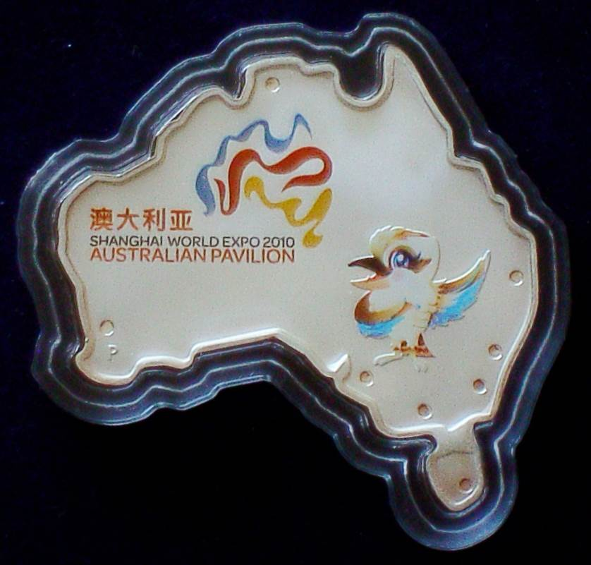 2010 Shanghai World Expo Australia Shaped $1 Coin