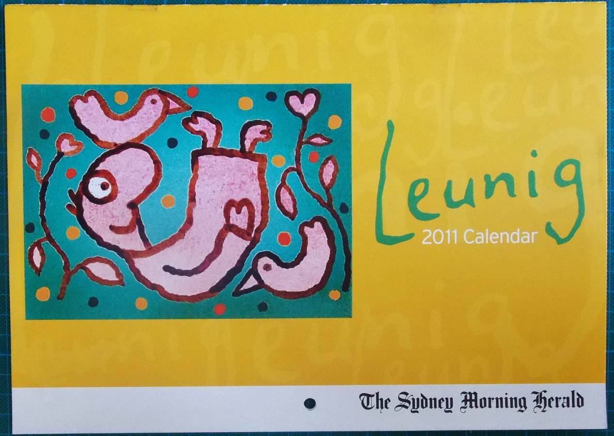 2011 Michael Leunig Sydney Morning Herald Calendar New