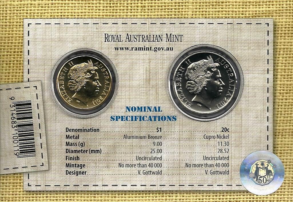 2011 Australian Wool - UNC RAM Coin Set