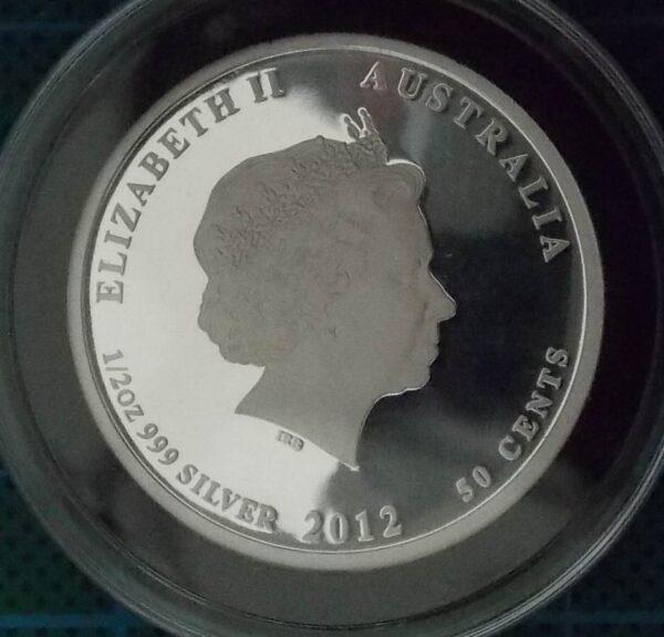 2012 Australian Lunar Silver Coin Series II - 1/2 oz. Year Of The Dragon