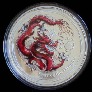 2012 Australian Lunar Silver Coin Series II - Year Of The Dragon