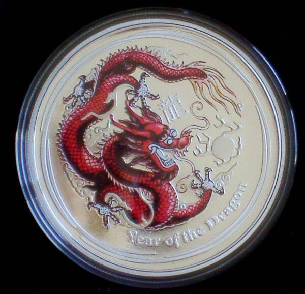 2012 Australian Lunar Silver Coin Series II - Year Of The Dragon