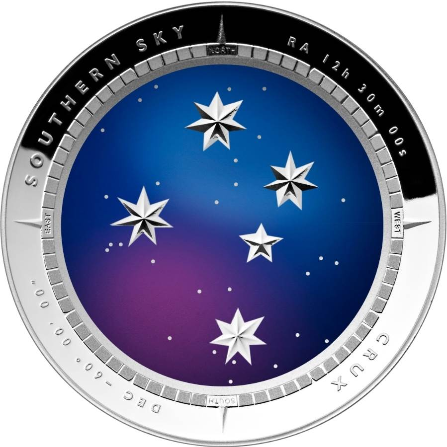 2012 Crux Southern Sky $5 Domed Silver Proof Coin