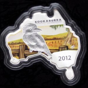 2012 Kookaburra Map Shaped $1 Silver Coin