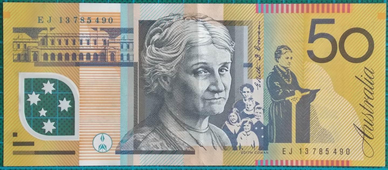 2013 Australia Fifty Dollars Banknote EJ13785490