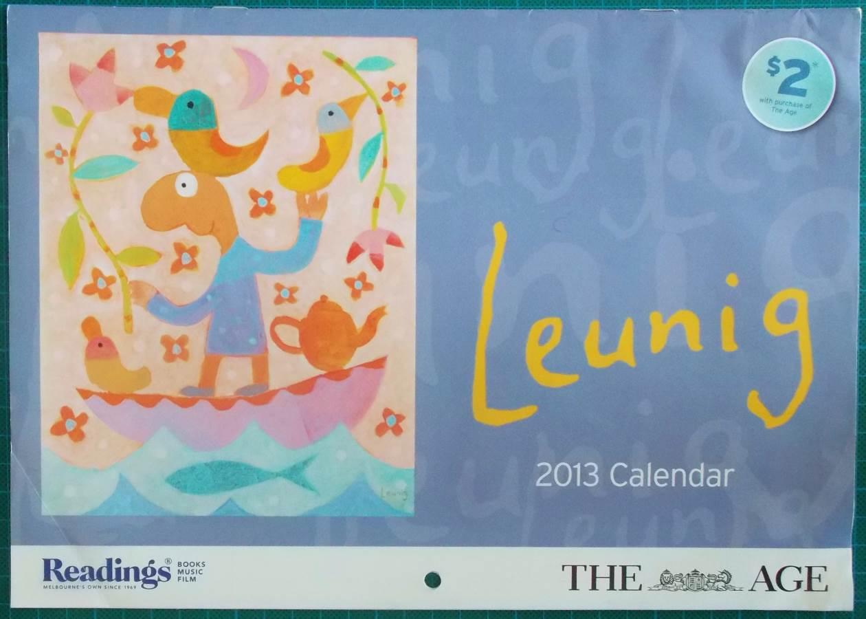 2013 Michael Leunig Melbourne Age Calendar New