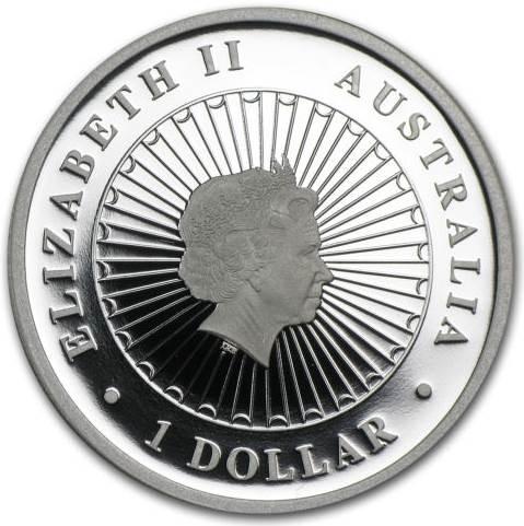 2013 Australian Opal Series The Kangaroo 1oz Silver Proof Coin