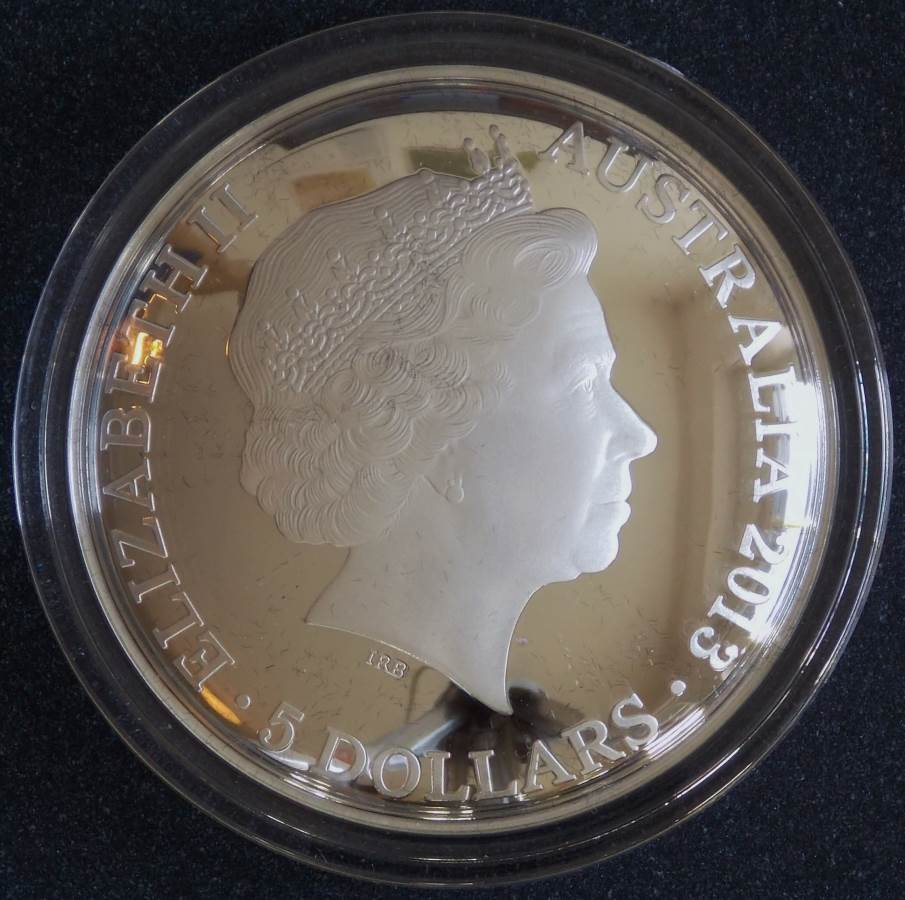 2013 Southern Sky Pavo $5 Domed Silver Proof Coin