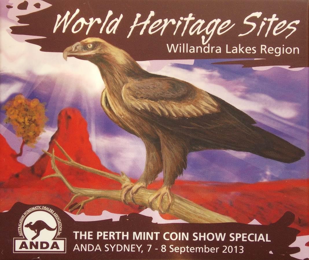 2013 World Heritage Sites - Willandra Lakes Region 1oz Silver Coin