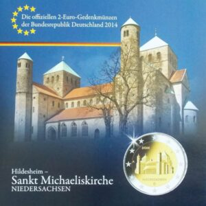 2014 ST MICHAELS CHURCH IN HILDESHEIM 2 EURO SET