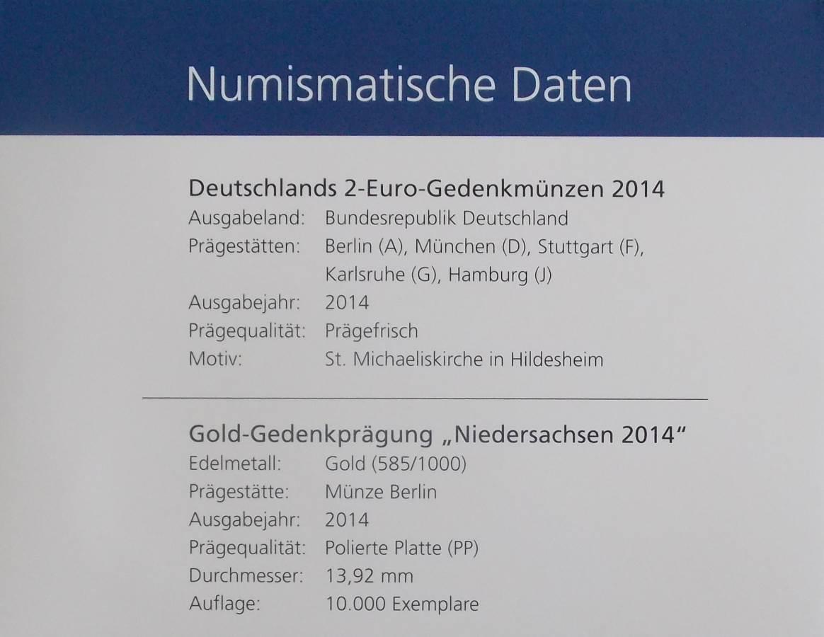 2014 ST MICHAELS CHURCH IN HILDESHEIM 2 EURO SET