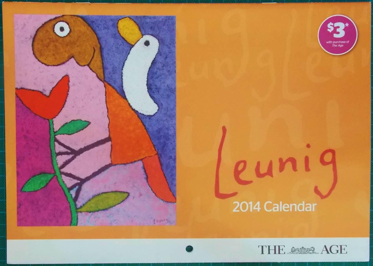 2014 Michael Leunig Melbourne Age Calendar New