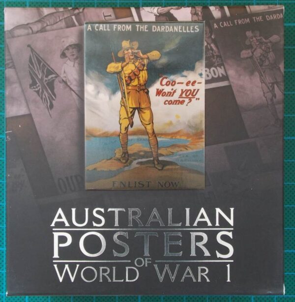 2014 Australian Posters of World War I Enlistment 1oz Silver Proof Rectangle Coin