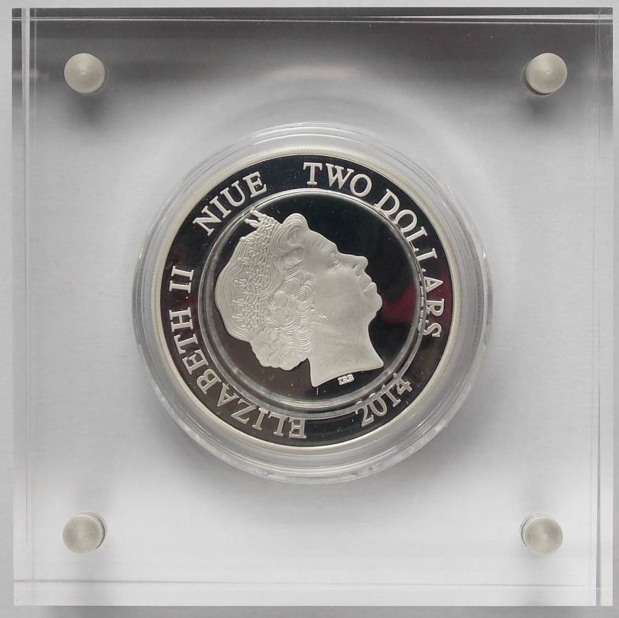 2014 Disney Mickey and Friends Donald Duck 1oz Silver Proof Coin Niue