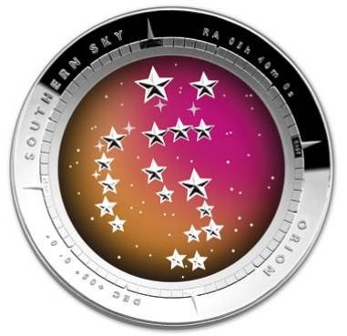 2014 Southern Sky Orion $5 Domed Silver Proof Coin
