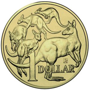 2015 AUSTRALIA ONE DOLLAR COIN WITH AMPELMANN PRIVY MARK