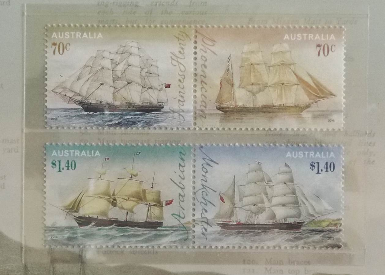 2015 AUSTRALIA POST ERA OF SAIL CLIPPER SHIPS STAMP PACK