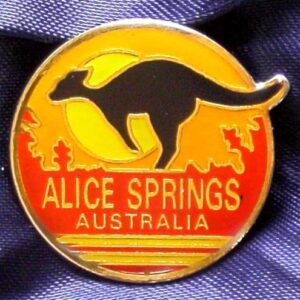 Alice Springs - Northern Territory - Enameled Metal Pin
