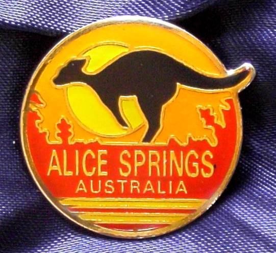 Alice Springs - Northern Territory - Enameled Metal Pin
