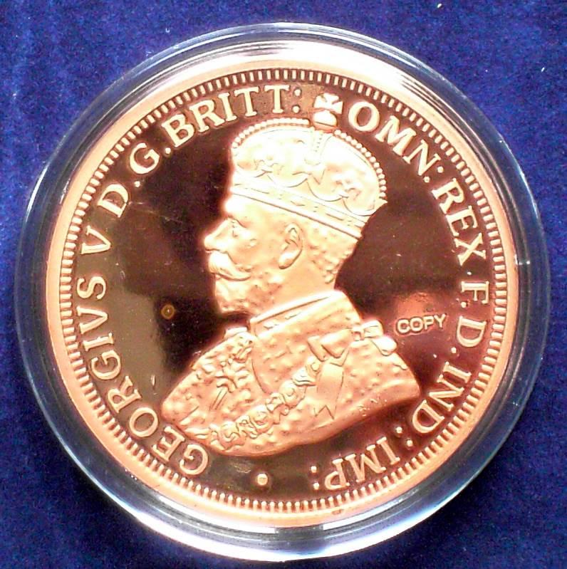 Australia 1930 Proof Penny Copy - 1 Troy oz