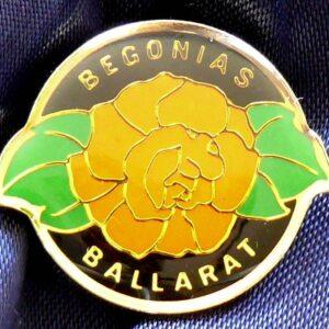 Australia Ballarat Begonias Enamel Pin