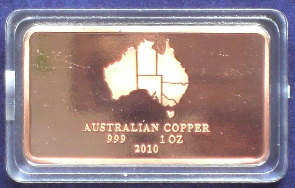 Australia Copper Bullion Bar - 1 Troy oz
