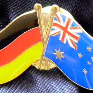 Australia / Germany Friendship Flags Metal Pin