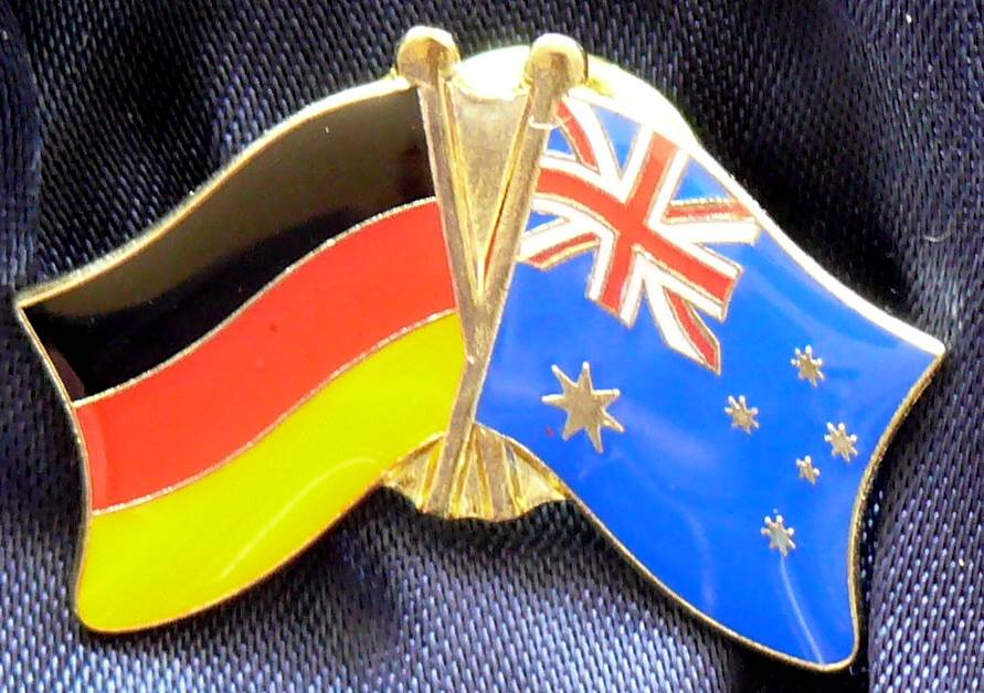 Australia / Germany Friendship Flags Metal Pin