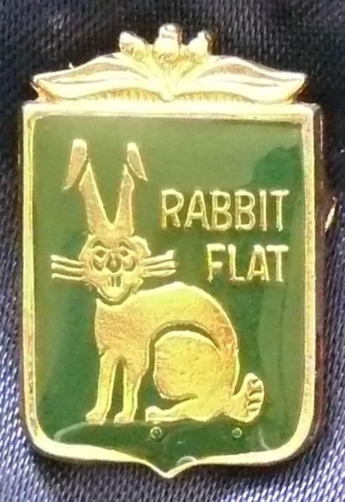 Australia Rabbit Flat Metal Pin