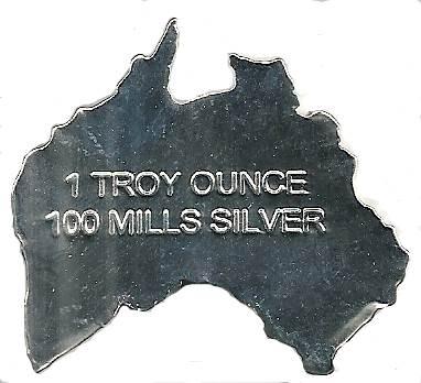 Australia Shaped Silver Clad - 1 Troy oz