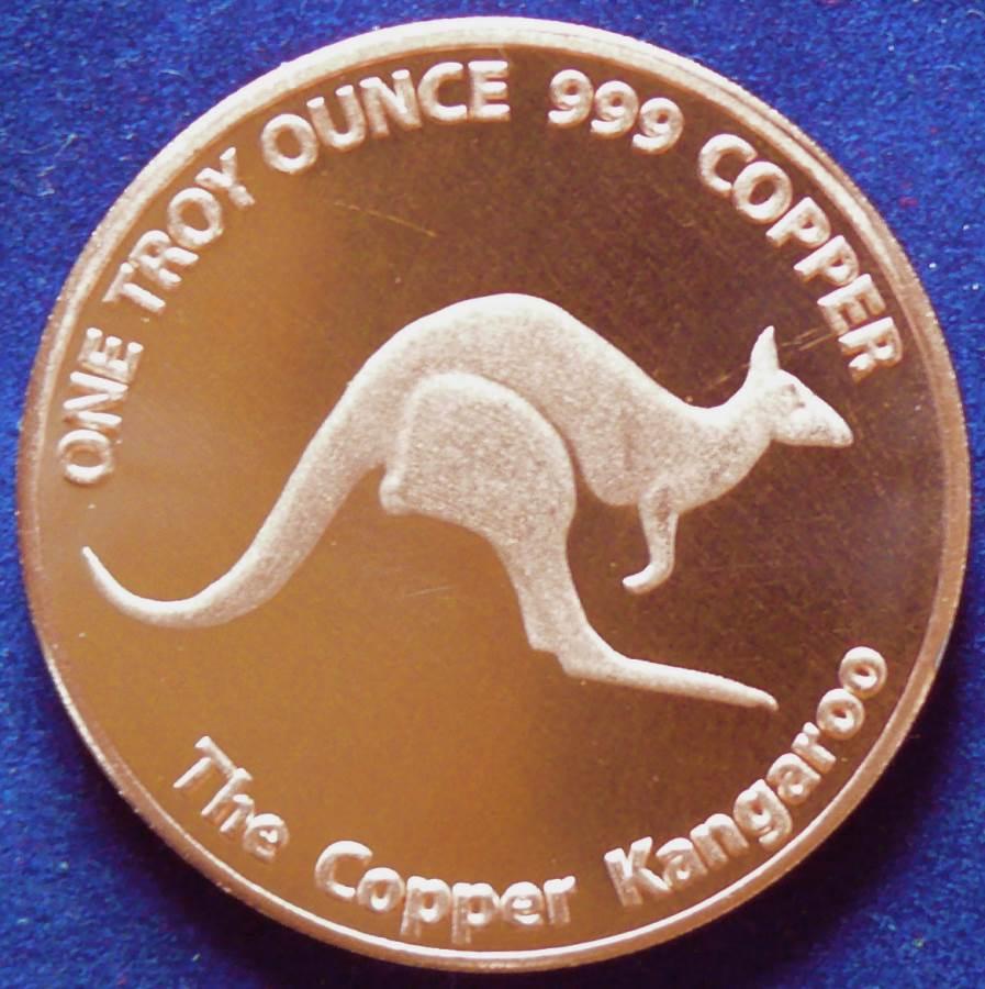 Australian Copper Kangaroo Bullion Coin - 1 Troy oz