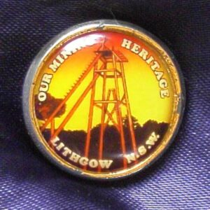 Our Mining Heritage - Lithgow - Enameled Metal Pin