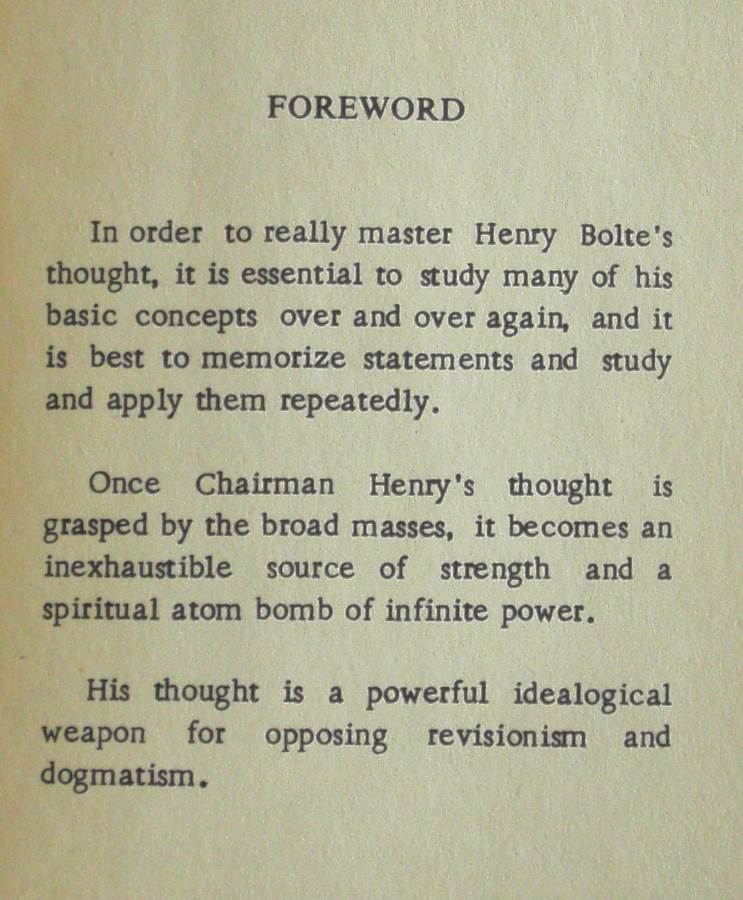 Quotations From Chairman Henry Bolte - Australian Politics 1970's
