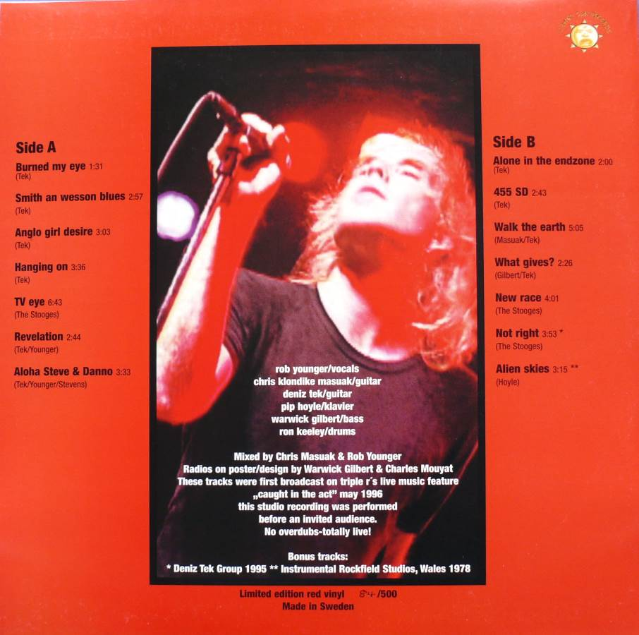 Radio Birdman Swedish Red Wax Limited Edition - 84/500