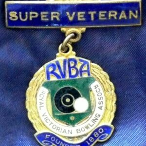 Royal Victorian Bowls Association Badge - Super Veteran