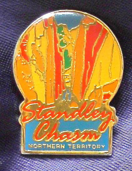 Standley Chasm - Northern Territory - Enameled Metal Pin