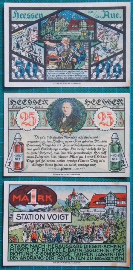 1921 HEESSEN BAD EILSEN NOTGELD SET